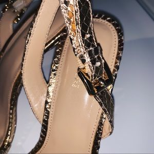 Michael Kors Shoes - MK Gold Chain Kitten Heels